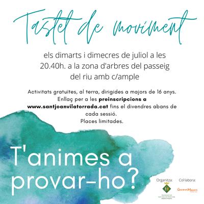 """Cartell promocional de """"Tastet de Moviment""""."""