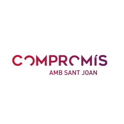 Logo Compromís amb Sant Joan - En Comú Guanyem.